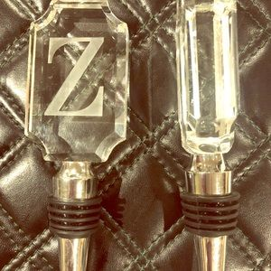 Other - Crystal & stainless steel bottle stopper initial z